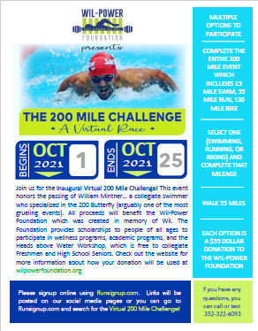 200 Mile Challenge Flyer Graphic